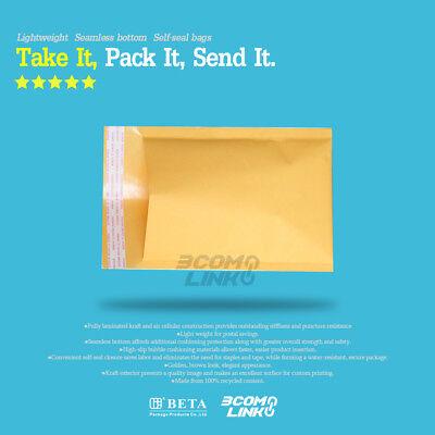 4x7 (4x6) inch Kraft Self Seal Bubble Mailer Padded Envelope #0000 25,50,100,500 4