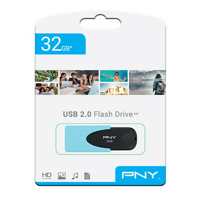 PNY Pastel 32gb USB 2 2.0 Flash Drive Memory Stick Pen Storage Backup Drive 2