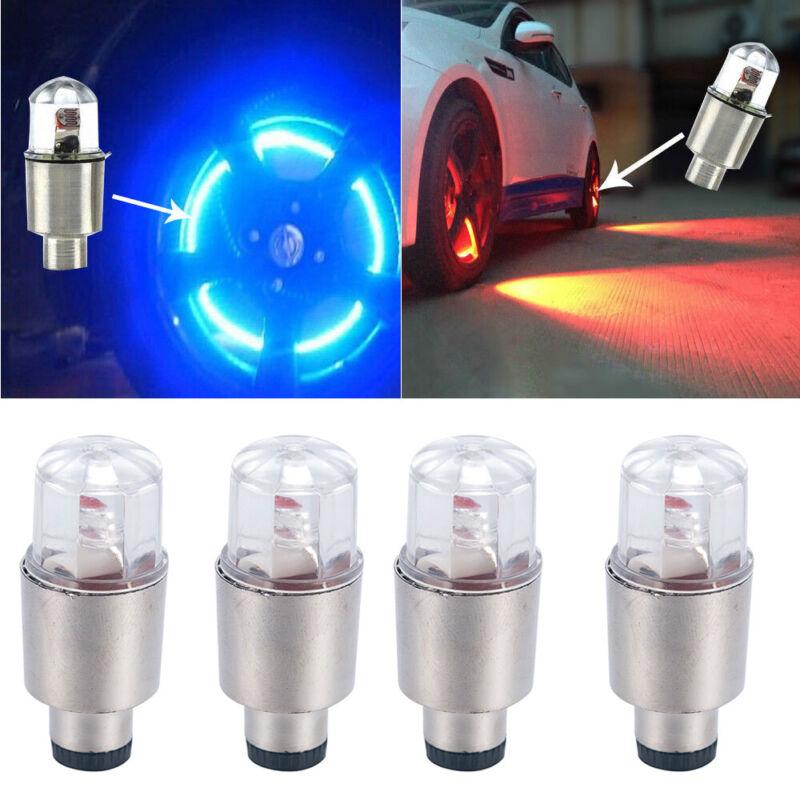 4Pcs LED Dragonfly Car Wheel Tyre Light Bulb Tire Air Valve Stem Cap Lamp Decor 2