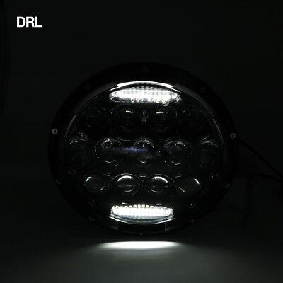 "Pair 7"" INCH 75W LED Headlight Hi/Lo Beam DRL Fit Jeep Wrangler CJ JK LJ Camaro 9"