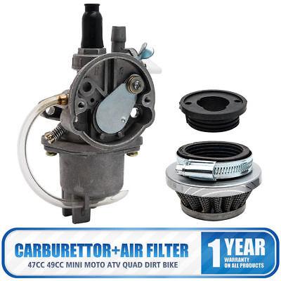 47cc 49cc Mini Moto ATV Quad Dirt Bike Carburetor Carburettor Carb Air Filter 2