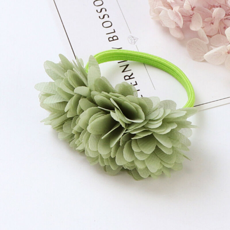 Multi-layer Flower Elastic Hair Bands Hair Clips Girls Kids Hair Accessories 7