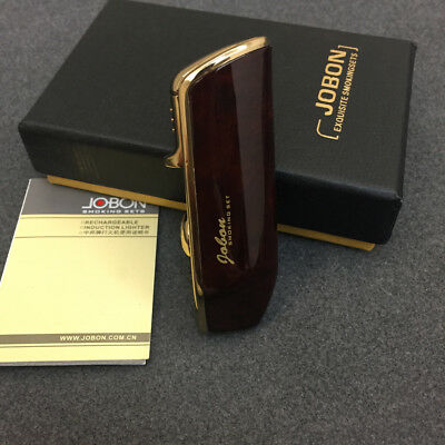 Jobon Triple Jet Flame Windproof Cigarette Torch Lighter Cigar Punch Brown Box 2