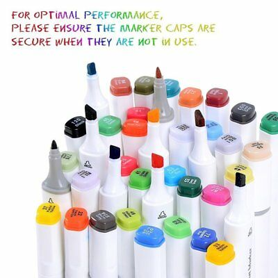 Ohuhu 80 Colors Dual Tips Art Sketch Twin Marker Pens Highlighters & Carry Bag