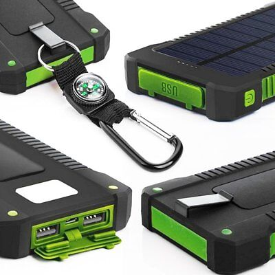 50000mah Solar Power Bank 2 LED 2 USB Waterproof Battery Charger for Cell Phone 4