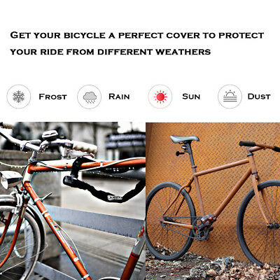 Waterproof Rain Dust Bike Bicycle Cycling Outdoor Cover Protector UV Resistant 3