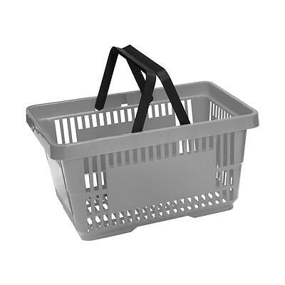 Plastic Shopping Baskets with Handles Coloured Plastic Baskets with Stacker 8