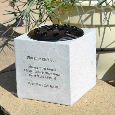 Personalised Customised Memorial Graveside Flower Rose Bowl Vase Pot 9