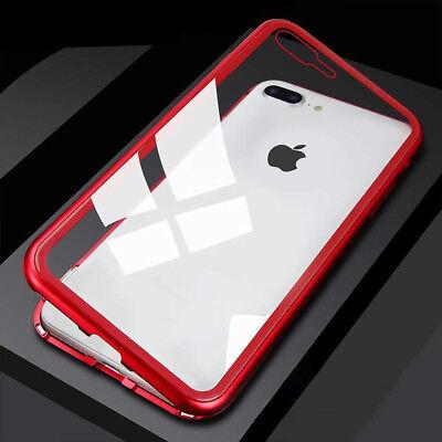 Coque Protection Magnétique Arrière Verre Trempé iPhone 6 6S 7 Plus 8 XR X S MAX 9