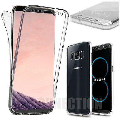 Coque Housse 360° FULL Silicone Tactile Pour Samsung S6 S7 S8 PLUS S9 Note 8 9 5