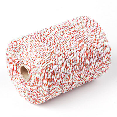 1000m Roll Polywire Electric Fence Stainless Steel Poly Wire Energiser Insulator 2