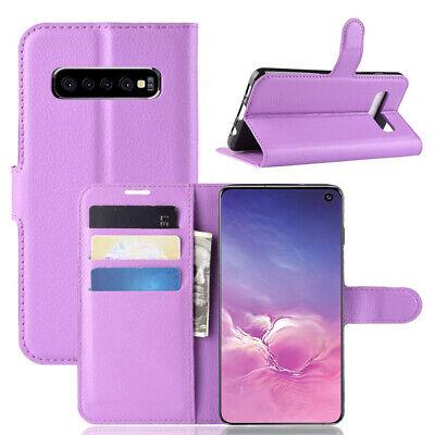 Wallet Leather Flip Case Cover Samsung Galaxy S6 S7 Edge S8 S9 S10 Plus S10e 5G 3