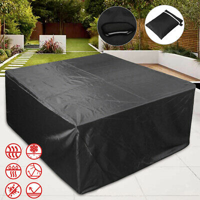Extra Large Garden Rattan Outdoor Furniture Cover Patio Table Protection UKSTOCK 3