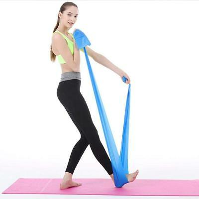 1.5m Elastic Yoga Stretch Resistance Bands Exercise Fitness Band Theraband 5