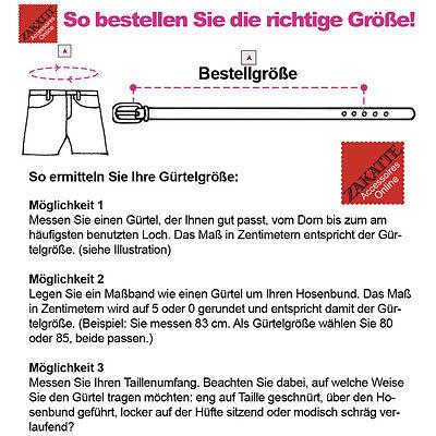 Zakatte • Nietengürtel Aus Kunstleder Guertel Mit Nieten Punkgürtel Bis 125 Cm 2