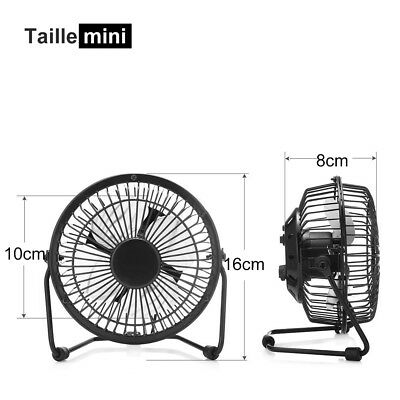 USB Ventilateur Mini Bureau Table Portable Silencieux Ordinateur PC Inclinable 5