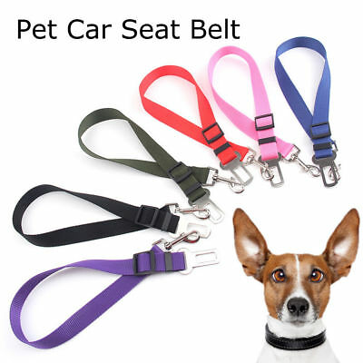 Pet Dog Car Vehicle Travel Safety Seat Belts Adjust Harness Restraint Clip UK 7