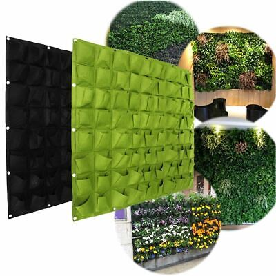 72 Pocket Planting Bag Hanging Wall Vertical Planter Hanging Flower Herb Garden 2