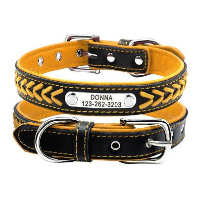 Collar de piel para perro grande suave Personalizable Collar grabado para perro 7