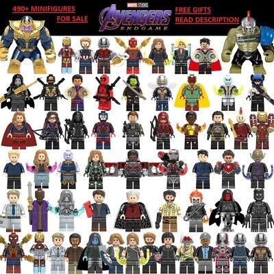 Marvel DC Comics Super Heroes 490 Building Block LEGO Minifigures X-Men Avengers 2