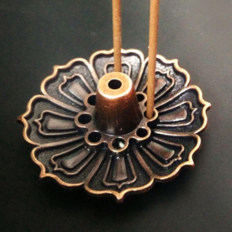 Metal Lotus Flower Incense Burner Holder Plate For Stick / Cone Incense 9 holes 7 7 of 12 See More