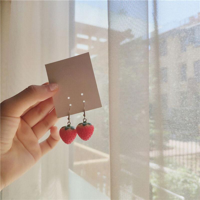 Fashion Bijoux Alloy Vivid ^Red Strawberry Drop Earrings Women's Costume Jewelry 3