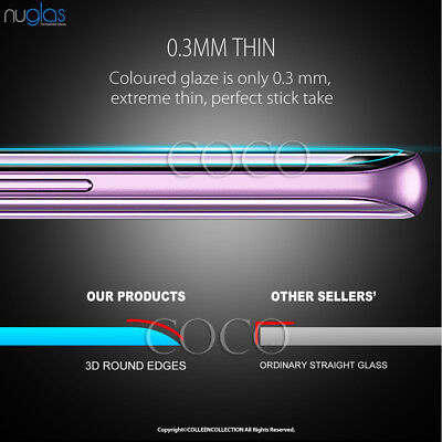 Galaxy S9 S8 Plus Note 9 8 NUGLAS Tempered Glass Full Screen Protector Samsung 8