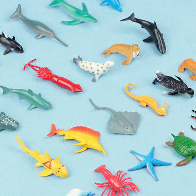 24X Plastic Ocean Animals Figure Sea Creatures Dolphin Turtle Whale Model Toys 4