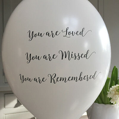 Angel & Dove 25 White 'You Are Loved' Biodegradable Latex Funeral Balloons 3