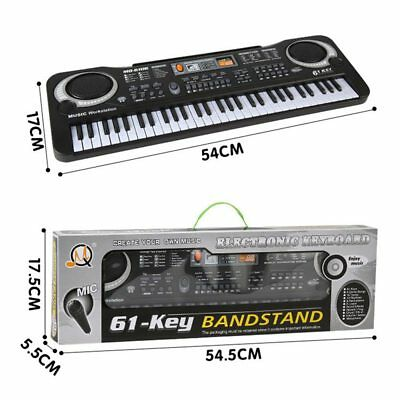 61 Keys Digital Electric Piano Music Electronic Keyboard Organ Mini Microphone 7