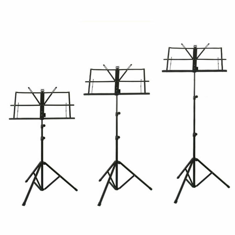 Heavy Duty Foldable Music Stand Holder Base Tripod Orchestral Conductor Sheet Uk 4
