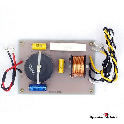 PAIR MATRIX 1500 2Way 1.8Khz Pro Speaker Passive Crossover w HF Driver horn EQ 3