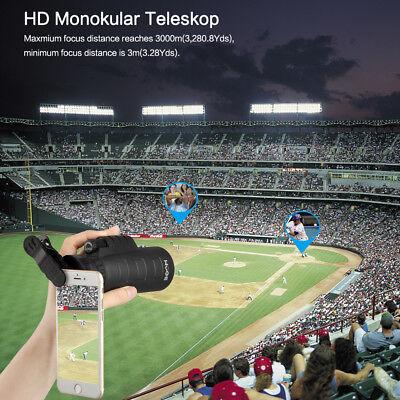 Télescope Monoculaire 50 x 60 Zoom HD Jumelle Vision Nocturne Téléphone+Trépied 4