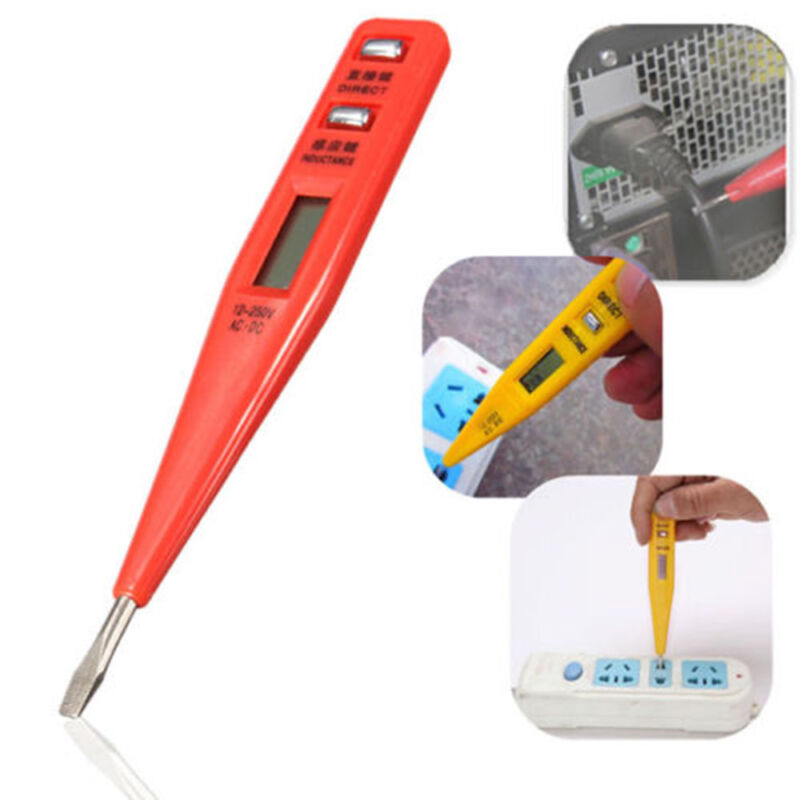 New LCD Digital AC/DC Voltage Detector Continuity Tester Pen 12-240V Multimeters 2