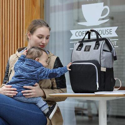 Wickeltaschen Babytasche Wickelrucksack Windel Rucksack Pflegetasche USB+Haken 10