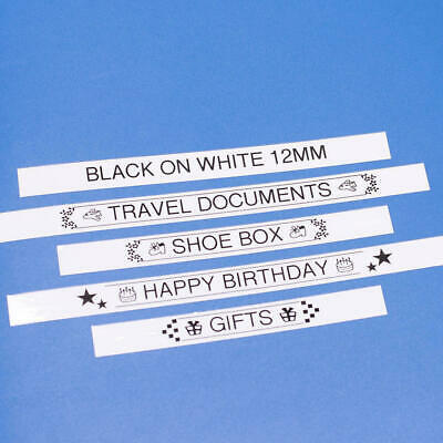 """5 Pack TZe-231 Label Tape, 12mm (0.47""""), Black on White, Compatible for Brother 6"""