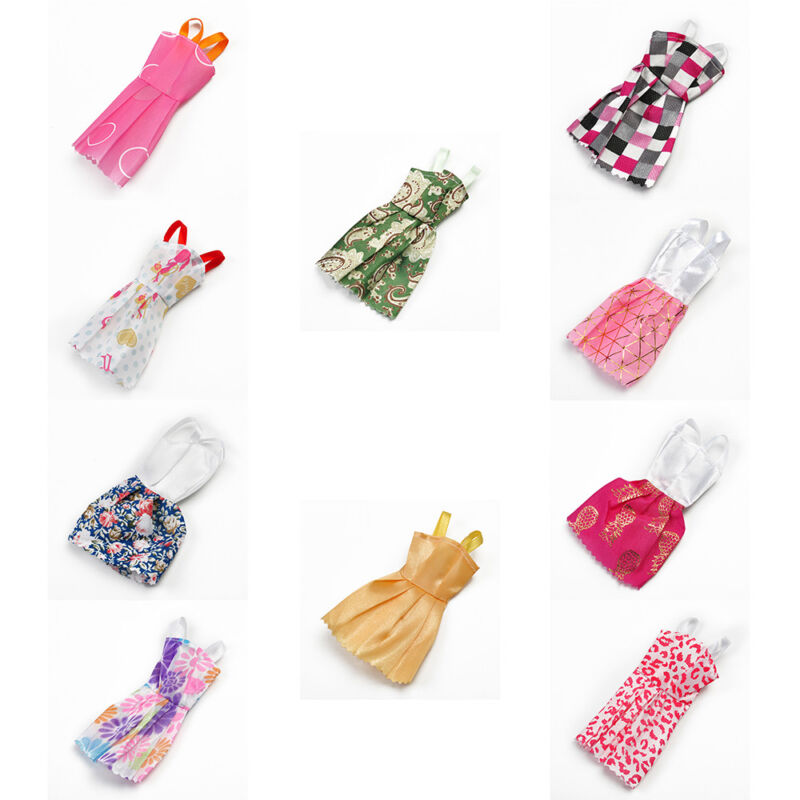 "10 Pcs Lot Fashion Charming Handmade Dresses Clothes For 11"" Barbie Dolls Gifts"