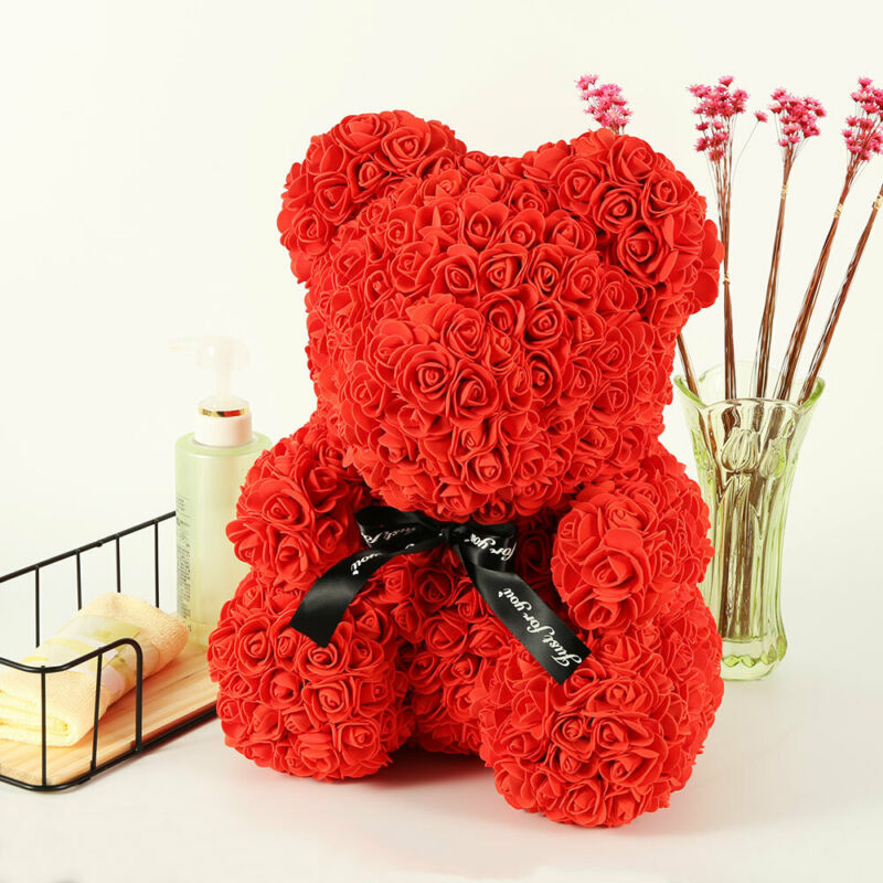 40cm Ours en Rose eternelle Ours Box Amour Teddy Bear Birthday mariage Valentin 6