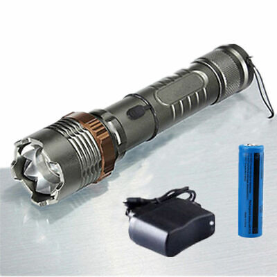 Rechargeable 200000LM Camping LED Flashlight T6 Tactical Police Torch+Batt+Char 12