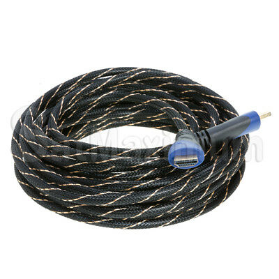 HDMI HIGH SPEED CABLE PREMIUM 1.4 Mesh Wire BLURAY 3D DVD HDTV Gold Plated - LOT 11