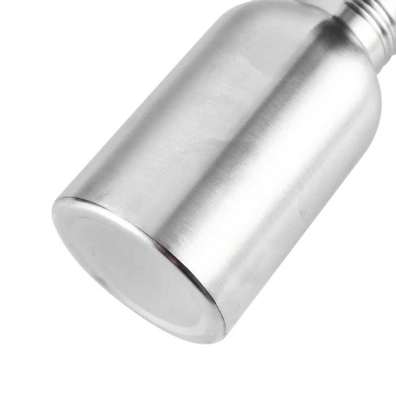 Stainless Steel Water Bottle Vacuum Thermos Wide Mouth Drinking Sport Bamboo Cap