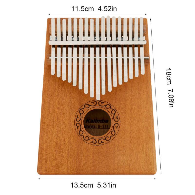 17-key Kalimba Portable Thumb Piano Mbira Mahogany Wood with Carry Bag au 10