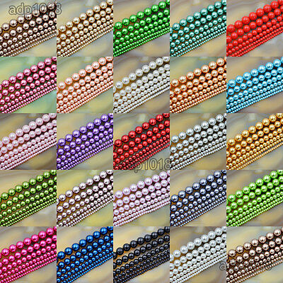 Wholesale Top Quality Czech Glass Pearl Round Beads 16'' 3mm 4mm 6mm 8mm 10mm 2