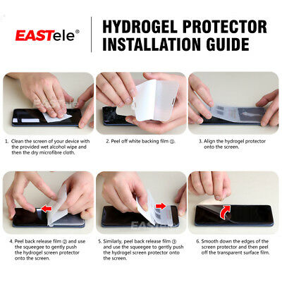 EASTele HYDROGEL AQUA FLEX Screen Protector Apple iPhone XS Max XR X 8 7 6s Plus 11