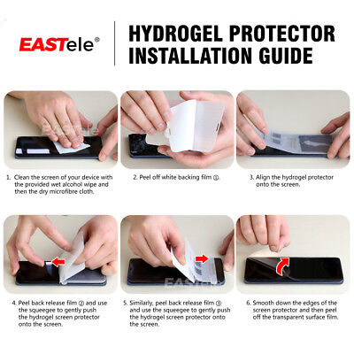 EASTele HYDROGEL Screen Protector Apple iPhone 11 Pro XS Max XR X 8 7 6s Plus 11