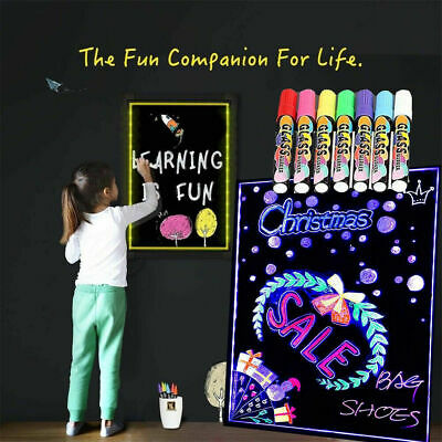 LED light up electronic fluorescent Writing Boad40*30CM Billboard Drawing Board 3