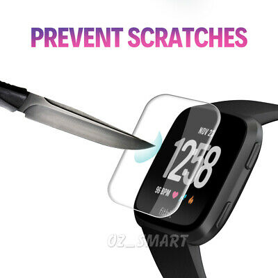 1x/2x/3x/4x Fitbit Versa Lite Screen Protector 9H Tempered Full Coverage Glass 4