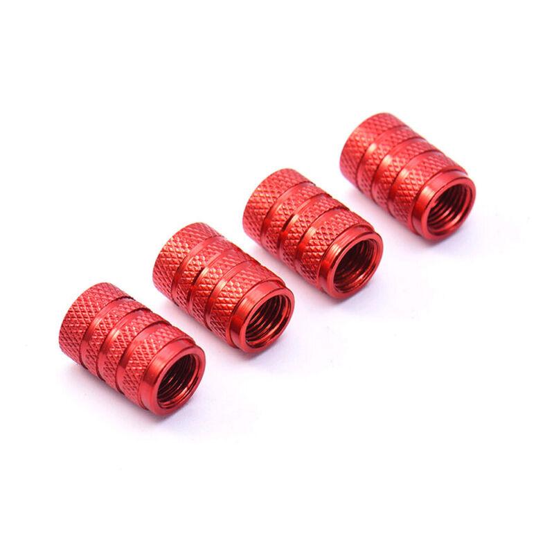 4pcs Aluminium Car Wheel Tyre Valve Stems Air Dust Cover Screw Cap Accessories 7