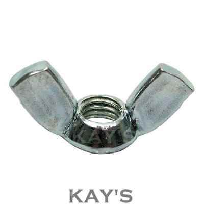 Wing Nuts Zinc Plated Butterfly Nut To Fit Bolts & Screws M3 M4 M5 M6 M8 M10 M12