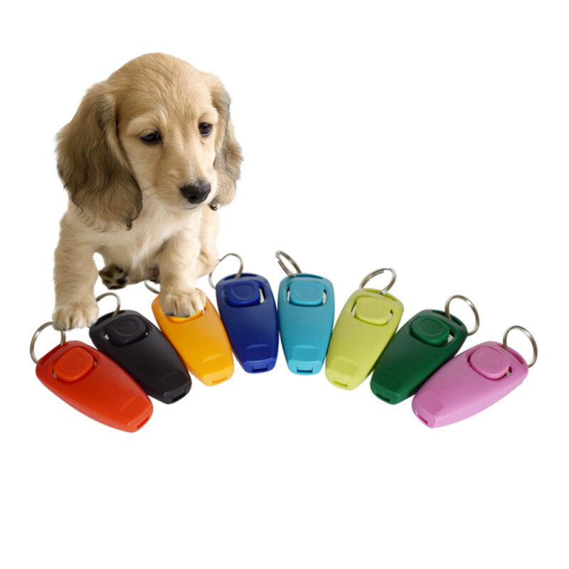 Dog Clicker & Whistle- Training,Obedience,Pet Trainer Click Puppy With Guide Hot 2